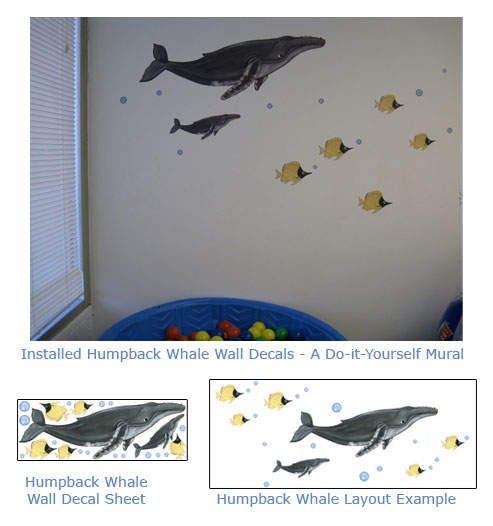 Whale Wall Art fun whale wall art for baby nurseries - kids rooms - humpback