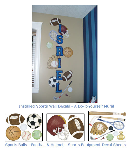 Sports Wall Decor sports theme wall art for baby nurseries-kids rooms-sports wall