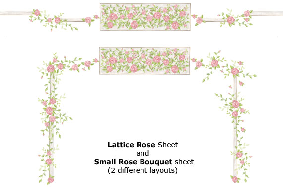 Rose Lattice Mural Example